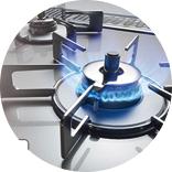 ガスコンロ・ビルトインコンロ・システムキッチン用コンロは経験と格者を持つスタッフが丁寧に施工。